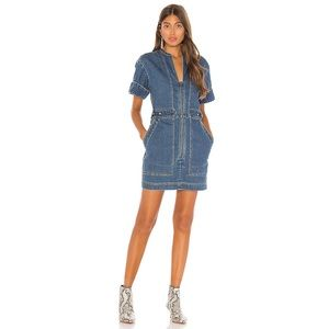 NWT Free People Dream On Denim Mini Dress Indigo M